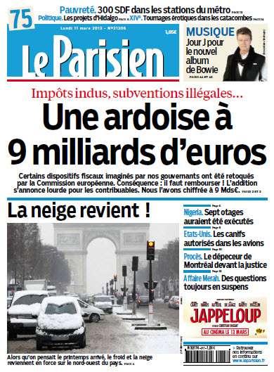 Le Parisien Lundi 11 Mars 2013