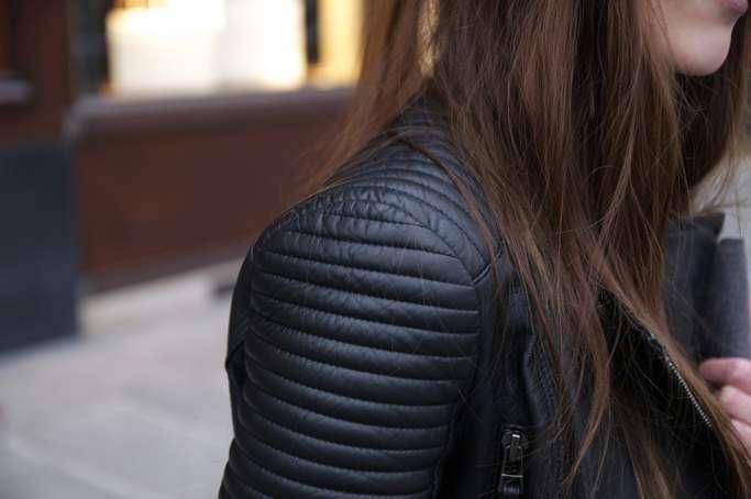 Padded Leather Jacket hm