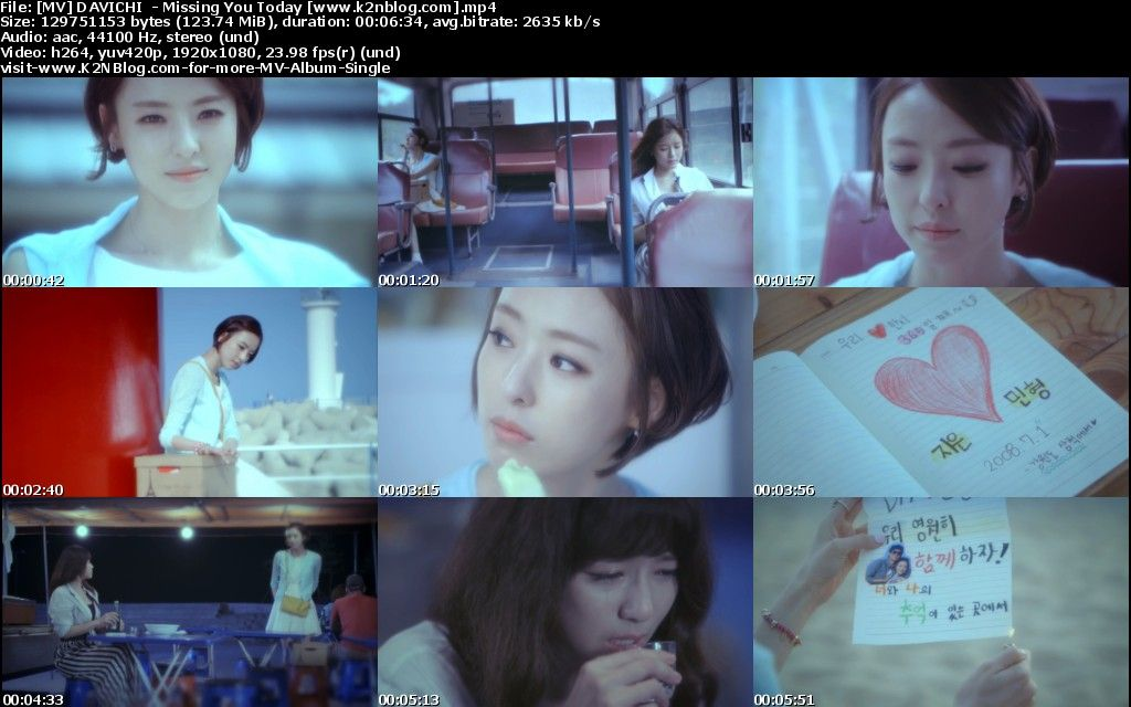 [MV] DAVICHI - It's Because I Miss You Today [HD 1080p Youtube]
